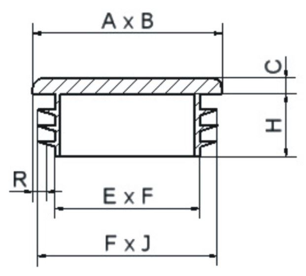 Rectangular tube plug